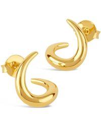 Dinny Hall | Small Gold-plated Toro Twist Stud Earrings | Lyst