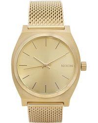 Nixon - Time Teller Milanese Gold-tone Watch - Lyst