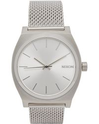 Nixon - Time Teller Milanese Silver-tone Watch - Lyst