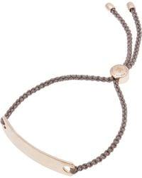 Monica Vinader - Rose Gold Vermeil Havana Cord Friendship Bracelet - Lyst