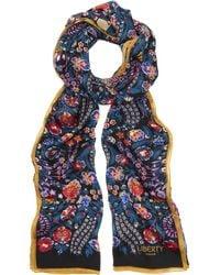 Liberty - Dalia 70 X 200 Silk Chiffon Scarf - Lyst