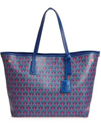 Liberty Marlborough Iphis Canvas Tote Bag - Blue