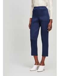 Pleats Please Issey Miyake Narrow-leg Trouser