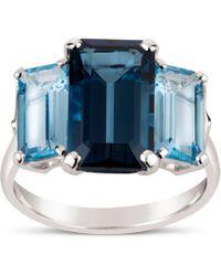 Dinny Hall - Silver Trinny Trilogy Blue Topaz Ring - Lyst