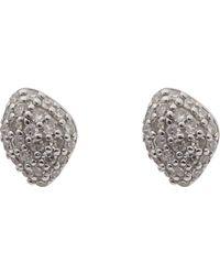 Monica Vinader - Rose Gold Vermeil Nura Mini Teardrop Diamond Stud Earrings - Lyst