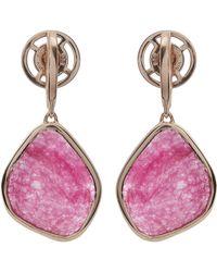 Monica Vinader - Rose Gold Vermeil Siren Large Pink Quartz Nugget Earrings - Lyst
