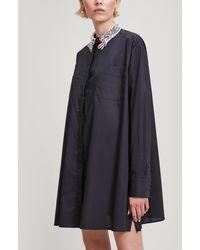 Vivetta - Embroidered Collar Shirt Dress - Lyst