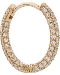 "Maria Tash - 3/8"" Diamond Five Row Pave Earring - Lyst"