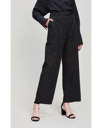 Folk - Wide Leg Pinstripe Trousers - Lyst