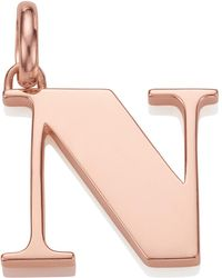 Monica Vinader | Rose Gold-plated Alphabet Pendant N | Lyst