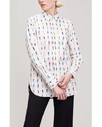 Paul Smith - People Print Cotton Shirt - Lyst
