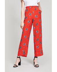 Ganni - Kochhar Printed Silk Trousers - Lyst