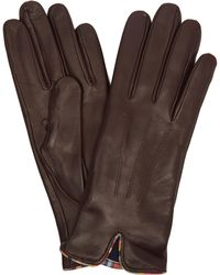 Paul Smith - Leather Swirl Piping Gloves - Lyst