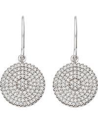 Astley Clarke - White Gold Icon Diamond Earrings - Lyst