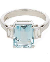 Kojis - White Gold Aquamarine And Diamond Ring - Lyst