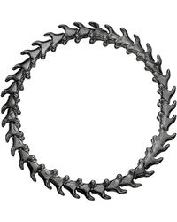 Shaun Leane - Rhodium-plated Silver Serpents Trace Slim Bracelet - Lyst