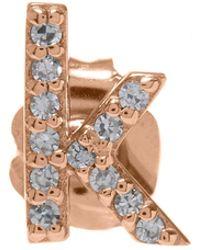 KC Designs | Rose Gold Diamond K Single Stud Earring | Lyst