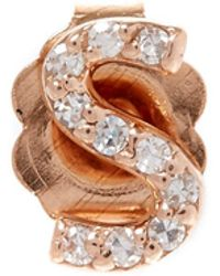 KC Designs - Rose Gold Diamond S Single Stud Earring - Lyst