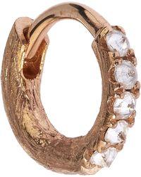 Annoushka - Rose Gold Dusty Diamond Hoop Earring - Lyst