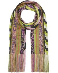 Etro - Jacquard Stripe Quilt Scarf - Lyst