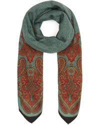 Etro Scialle Bombay Wool-blend Scarf - Green
