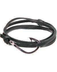 Miansai - Stainless Steel Hook-on Leather Bracelet - Lyst