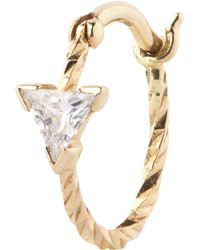 Maria Black - Gold Diamond Cut Viper Single Hoop Earring - Lyst