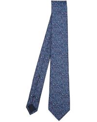 Lanvin - Assorted Shapes Printed Silk Tie - Lyst