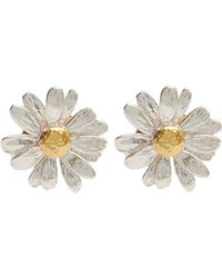 Alex Monroe - Silver And Gold-plated Daisy Stud Earrings - Lyst