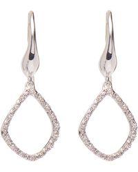Monica Vinader - Silver Riva Diamond Kite Earrings - Lyst