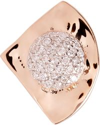Kismet by Milka - Gold Orbit White Diamond Single Stud Earring - Lyst