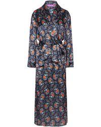 Liberty - Florence Evelyn Silk Satin Long Robe - Lyst