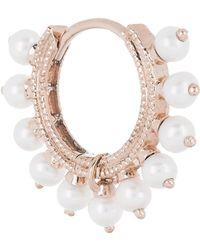 """Maria Tash - 5/16"""" Pearl Coronet Hoop Earring - Lyst"""