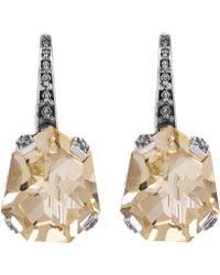 Stephen Dweck - Silver Galactical Champagne Quartz Drop Earrings - Lyst