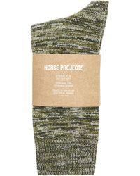 Norse Projects - Bjarki Blend Marl Socks - Lyst