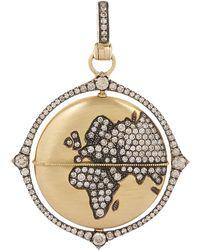 Annoushka - Gold Mythology Diamond Pendant - Lyst