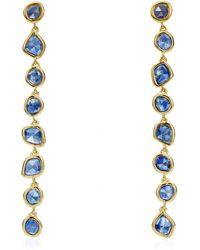 Monica Vinader - Gold Vermeil Kyanite Siren Mini Nugget Cocktail Earrings - Lyst