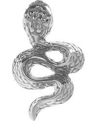 Maria Tash Large Engraved Diamond Snake Threaded Stud Earring Right - Metallic