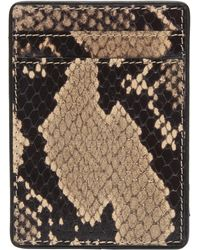 Dries Van Noten - Leather Snake Print Card Holder - Lyst