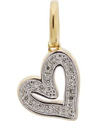 Monica Vinader - Gold-plated Alphabet Heart Diamond Pendant - Lyst