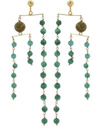 Paloma Wool Vino Jade And Jasper Mobile Earrings - Green