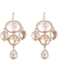 Larkspur & Hawk - Rose Gold Sadie Girandole Drop Earrings - Lyst