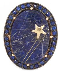 Andrea Fohrman - Gold Galaxy Lapis Lazuli Quartz Ring - Lyst