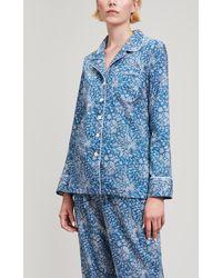 Liberty - Whispering Stars Tana Lawn Cotton Long Pyjama Set - Lyst
