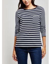 Barbour - Striped Ripple Long Sleeve Top - Lyst
