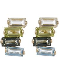 Suzanne Kalan - Gold Gemstone Stud Earrings - Lyst