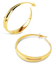 Dinny Hall - Gold-plated Lotus Large Hoop Earrings - Lyst