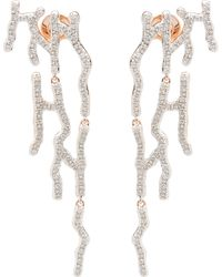 Monica Vinader - Rose Gold Vermeil Riva Waterfall Diamond Cocktail Earrings - Lyst