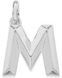 Monica Vinader - Silver Alphabet Pendant A-z - Lyst