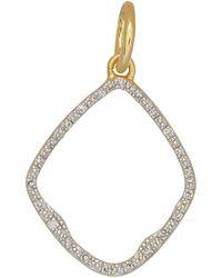 Monica Vinader - Gold Vermeil Diamond Riva Hoop Pendant - Lyst